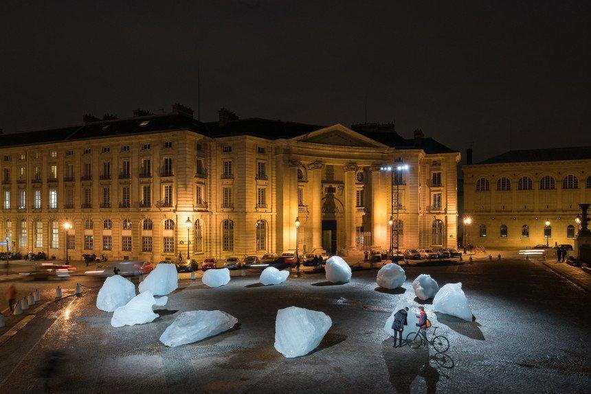Klimakunst af Olafur Eliasson i Paris