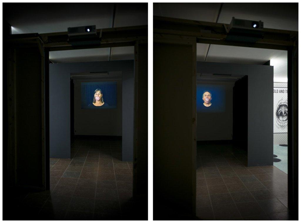 De to kunstneres tyggegummibaserede skulptur-dialog. Foto: Jens Markus Lindhe.
