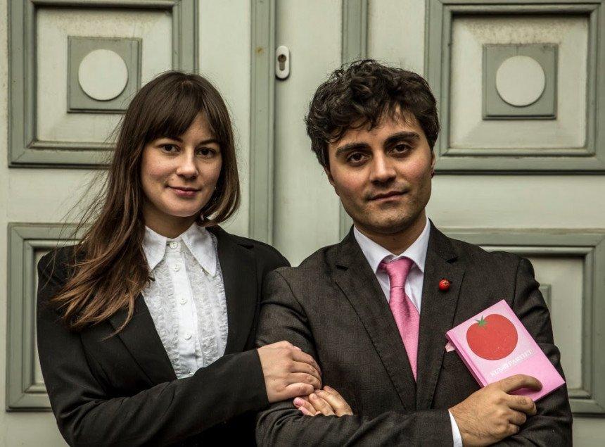 Udenlandsk kunstnerduo fører valgkamp i Holstebro