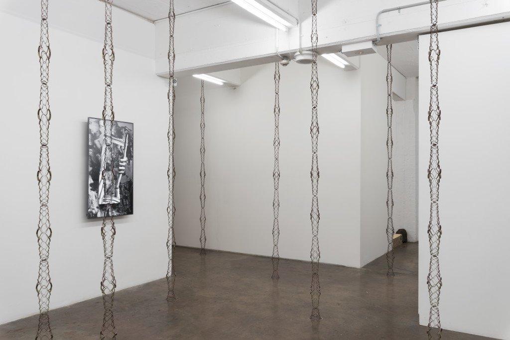 Installationsview fra udstillingen Spooky Action at a Distance, 2016, BUS Projects, Melbourne. Foto: David Stjernholm