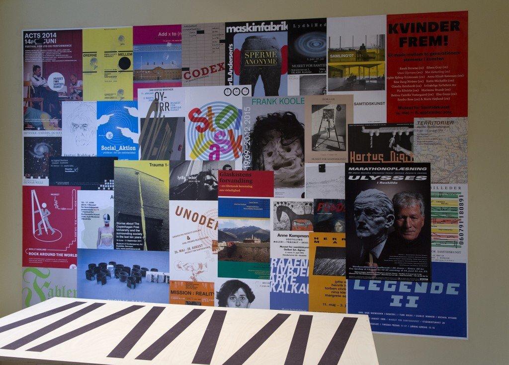 Installationsview, I går. I dag. I morgen.. Foto: Frida Gregersen