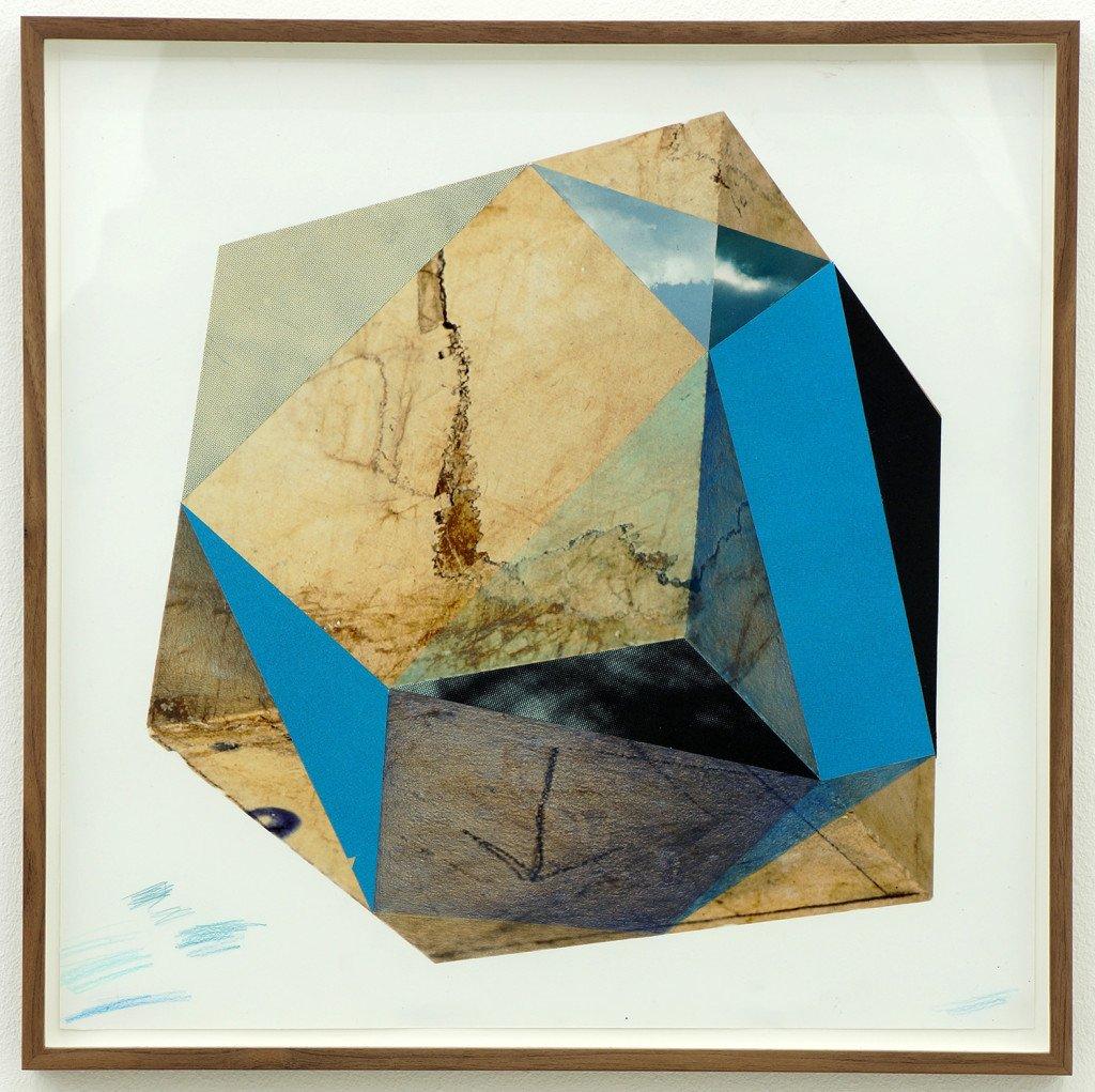 Blue, 2014. Blyant og fundne billeder. Foto: Jens Erdman Rasmussen