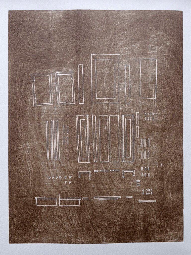 Fra serien af grafiske værker i udstillingen. Foto: Anders Sune Berg