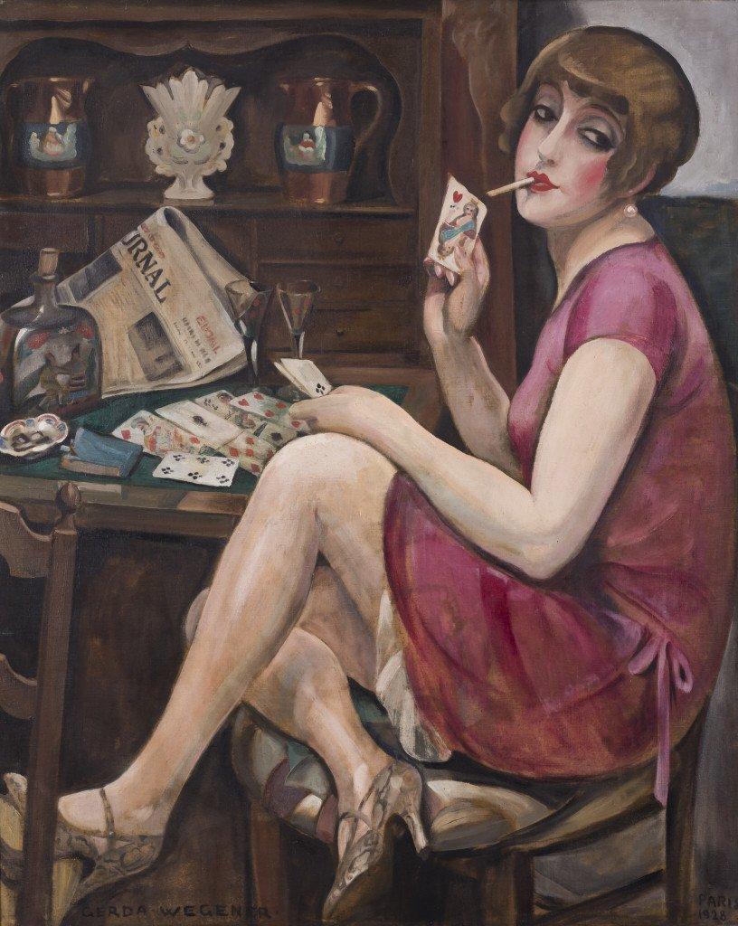 Gerda Wegener, Hjerterdame (Lili), 1928. Foto: Morten Pors