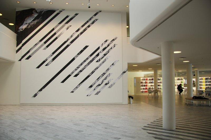 Installationsview fra udstillingen Views and Vistas, Traneudstillingen, 2011-2012. Pressefoto