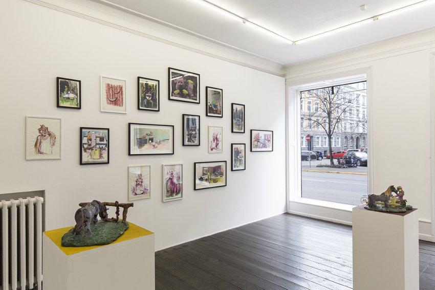 Lemon Moon, udstillingsview, Marie Kirkegaard Gallery, 2016. Foto: Ole Haupt