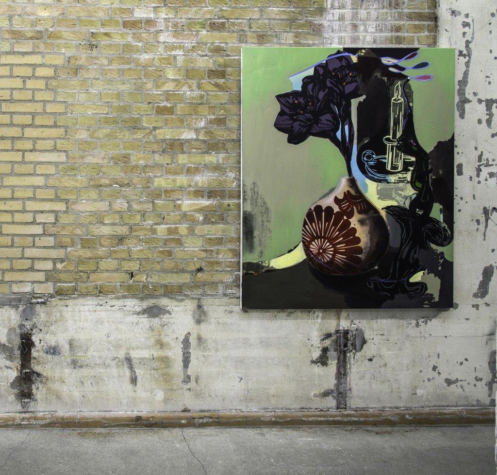 Meltdown, 150x120 cm. Olie på lærred, 2014. Foto: Niels Fabæk