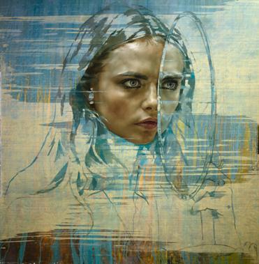 'Cara VI (Spejl)', Olie på lærred (2015) © Jonathan Yeo