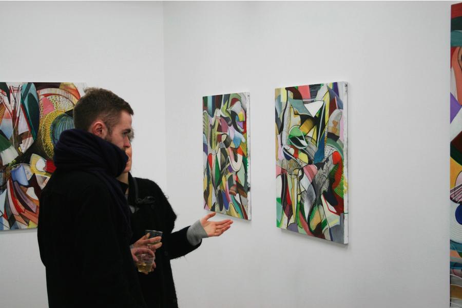 På Galleriernes dag kan man opleve forskelligartede udstillinger på landets gallerier. Her Lars Nørgårds udstilling på Charlotte Fogh Gallery i Aarhus. Pressefoto