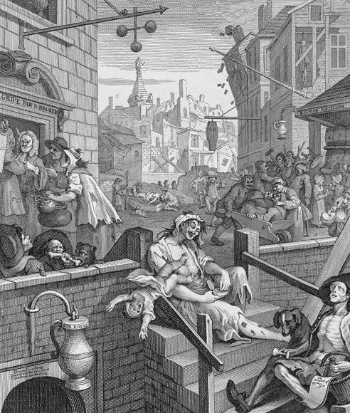 William Hogarth: Gin Lane, 1751 Pressefoto