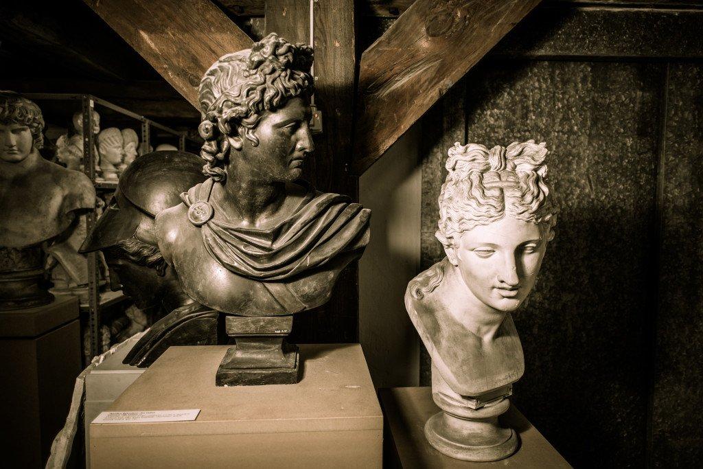 Apollo Belvedere – buste og portræt af kvinde. Foto: SMK