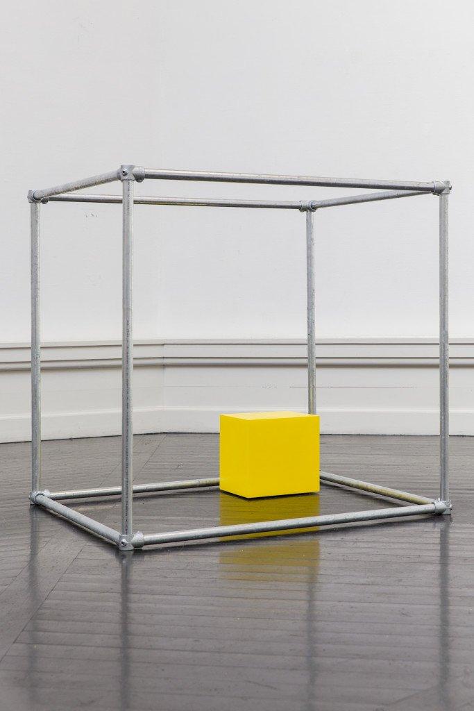 Freddie A. Lerche: Yellow Cube. Foto: Lior Zilberstein
