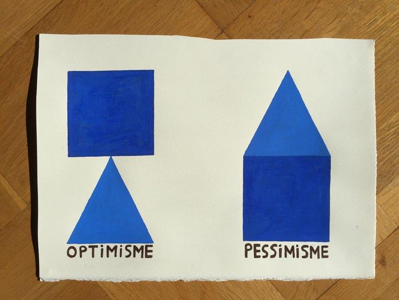 claus ejner: Optimisme Pessimisme, ud fra serien blå mm. 2013-2015. Foto: claus ejner