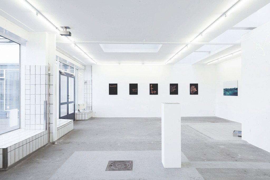 Udstillingsview: Breadcrumbs, 2016, Gether Contemporary. Foto: Alexander Kristoff