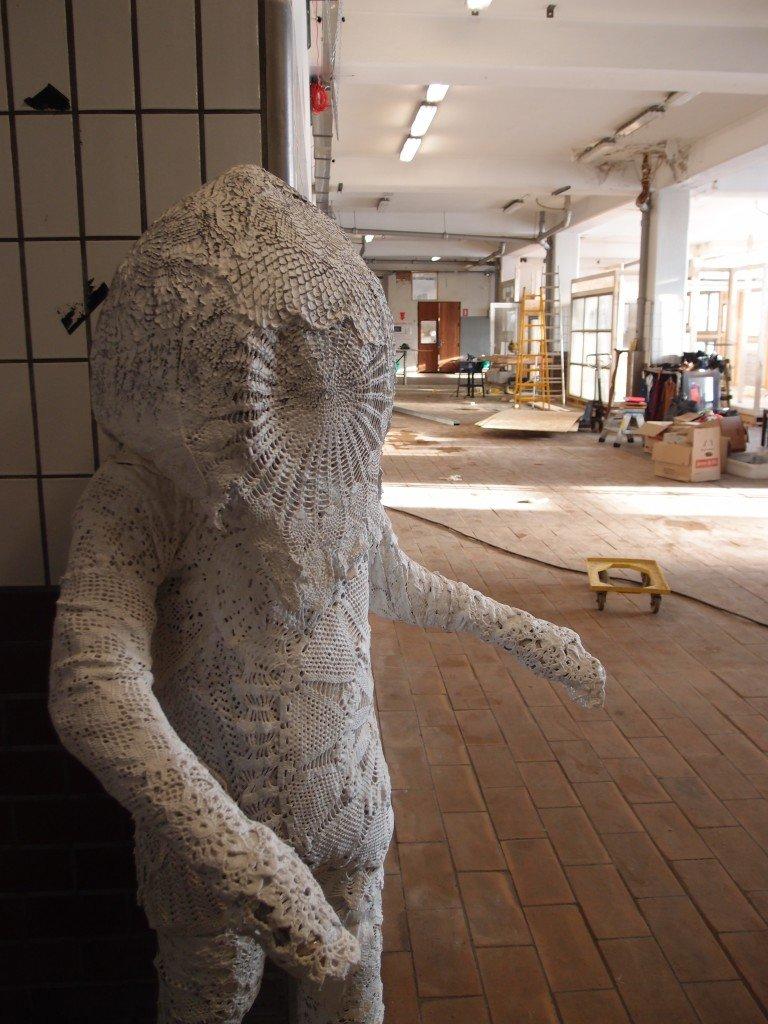 Her en skulptur, som var en del af Morten Kromanns afgangsprojekt på Det Jyske Kunstakademi, 2014 (skabt i samarbejde med Jens Ardal). Foto: Stine Nørgaard Lykkebo
