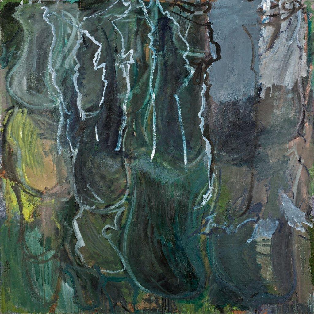 Per Kirkeby: Lucas, 1986. Olie på lærred 200x200 cm. Galleri Bo Bjerregaard.