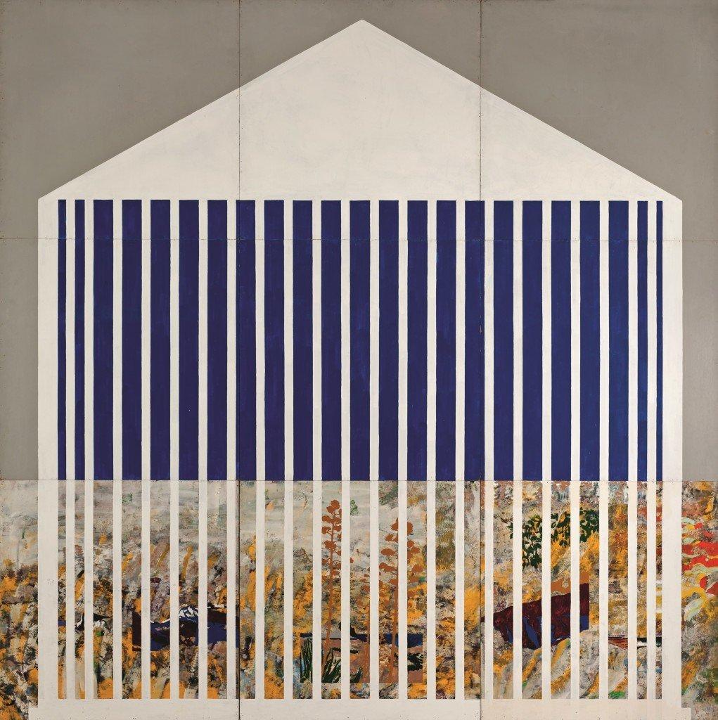 Per Kirkeby: Paris´Dom, 1966. Blandteknik på masonit, ni dele, 266x366 cm, Arken.