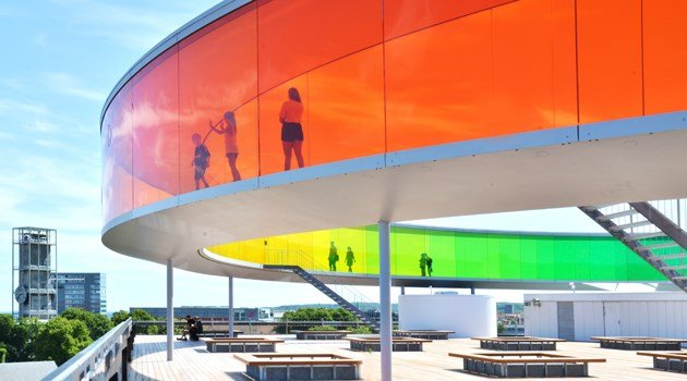 Olafur Eliasson: Your rainbow panorama, 2011. Pressefoto
