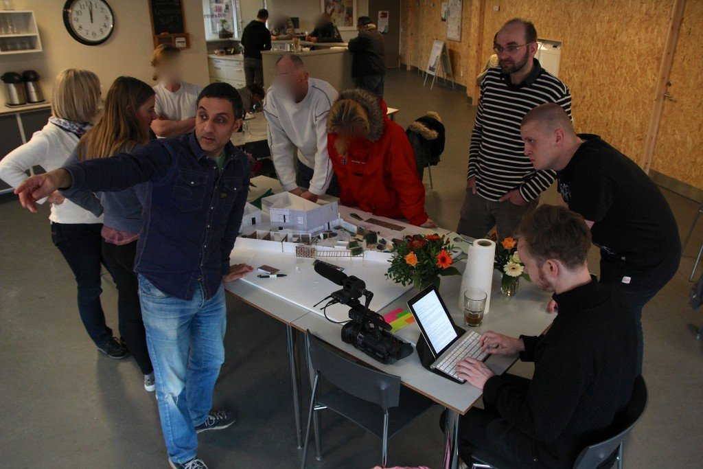 Odense Gårdhave, 2014. Modelworkshop. Foto: Line Simonsen