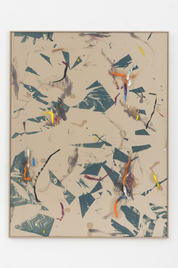 Bas Van den Hurk, Miss Beaumont #4, 2015. Silkscreen, oil paint, printing ink and powdered pigment on silk, 110 x 85 cm