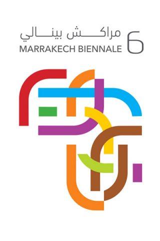 Selv logo'et for biennalen vikler sig sammen.