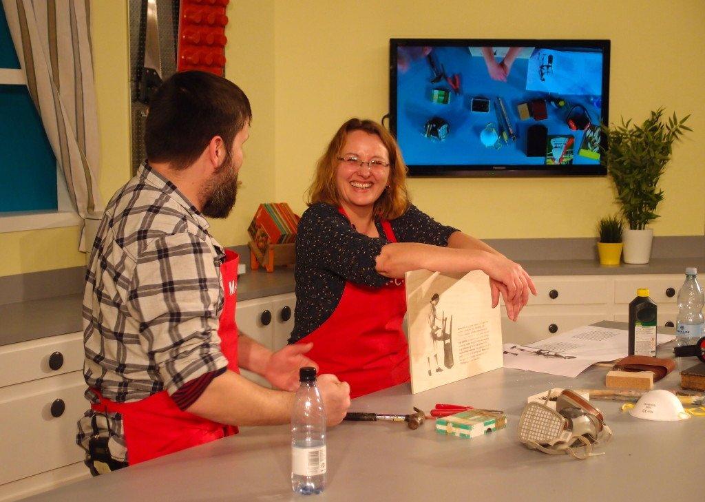 God stemning i køkkenet. Nanna Gro Henningsen og Sean Naftel. Foto: Ole Bak Jakobsen