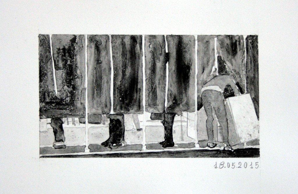 Leo Bruunsgaard Langgaard: 18.05.15, tegning, KP16, Kunsthal Aarhus. Foto: Leo Bruunsgaard Langgaard