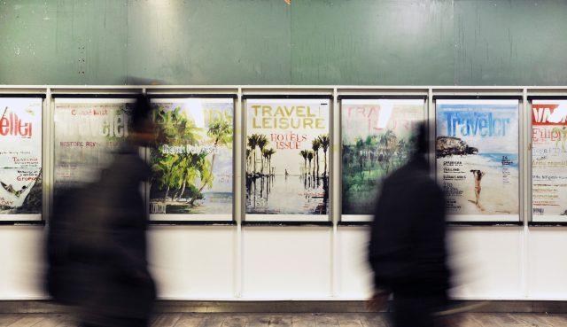 The Travel Magazine Series, 2012. 14 plakater på Sydhavn Station, København. Foto: Ditte Ejlerskov