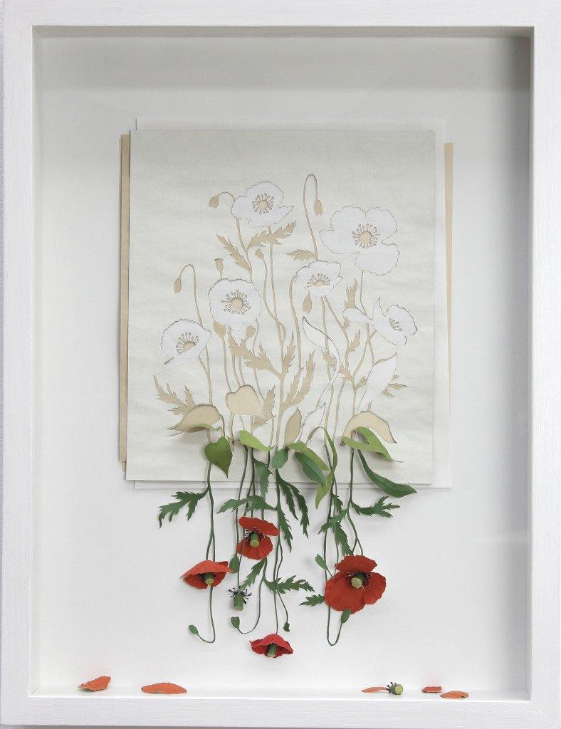 Alive but Dead, 2012. Syrefrit 115 g papir, akvarel, lim, 50 x 40,5 x 7 cm. Foto: Peter Callesen