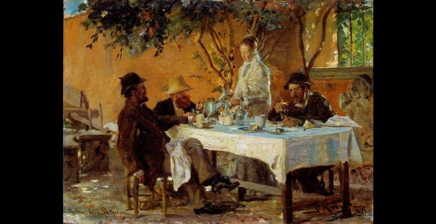 P. S. Krøyer: Frokost i Sora. Pressefoto