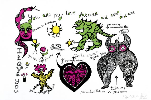 Niki de Saint Phalle,You are my love forever and ever and ever?, 1968 © 2015 Niki Charitable Art Foundation, All rights reserved.