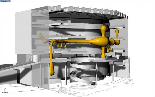 Visualisering af værket Valkyrie Rán på Aros. Pressefoto: Aros