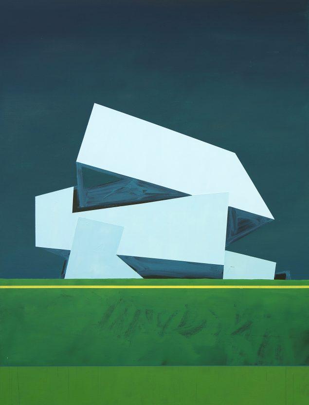 Asmund Havsteen-Mikkelsen: Rough Landing, 2016, olie på lærred, 131 x 100 cm.