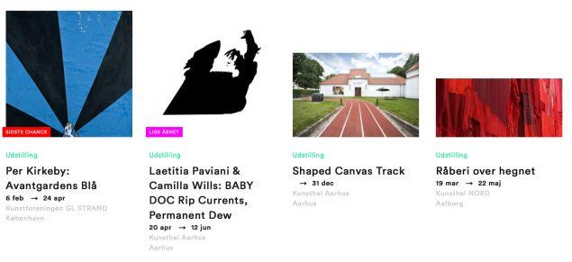 Den nye online Art Guide holder dig orienteret om aktuelle udstillinger og arrangementer i hele landet.