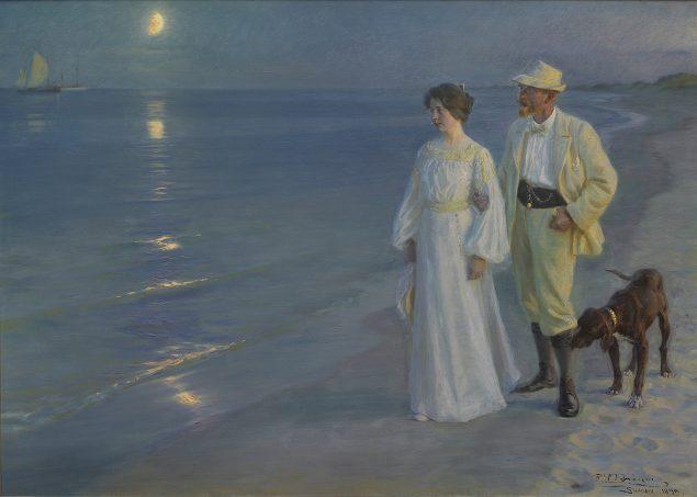 P.S. Krøyer: Sommeraften ved Skagens strand. Kunstneren og hans hustru. 1899. Foto: Den Hirschsprungske Samling