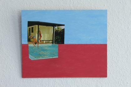 Rød og blå som Albert Mertz