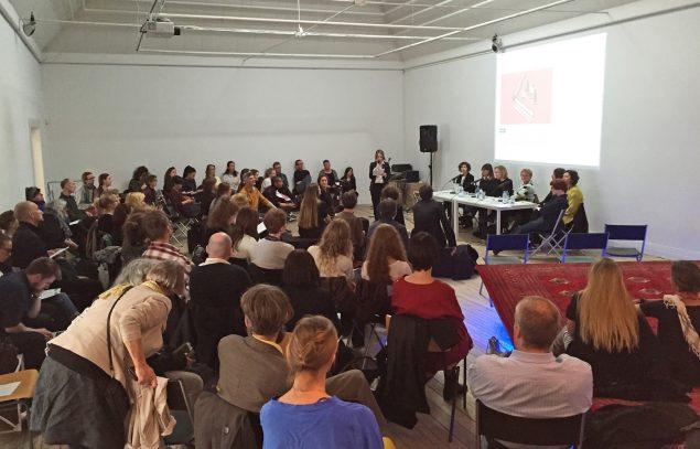 En af de arrangerede debatter under sidste års Art Weekend Aarhus. Foto: Jan Falk Borup