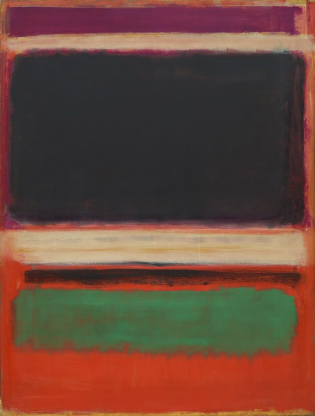 Mark Rothko: Magenta, Black, Green on Orange, 216,5 x 164,8 cm, olie på lærred, 1949, MoMA New York. © 1998 Kate Rothko Prizel & Christopher Rothko / Artists Rights Society (ARS).