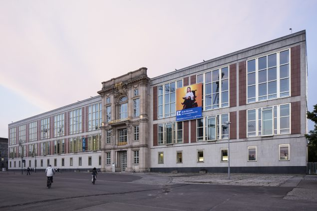 ESMT's facade. Foto: 9th Berlin Biennale for Contemporary Art