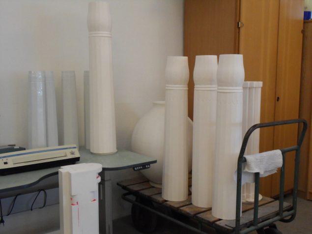 Klangvaser, 2016. Vaserne er her affotograferet efter brænding. Foto: Ursula Nistrup