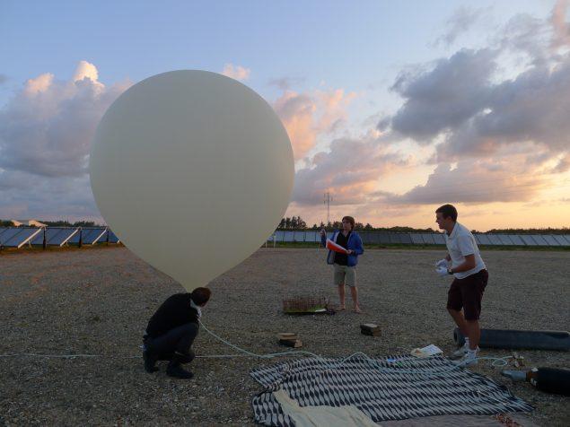 Billedet er taget i forbindelse med den første opsendelse i august 2014. Foto: Jesper Dalgaard