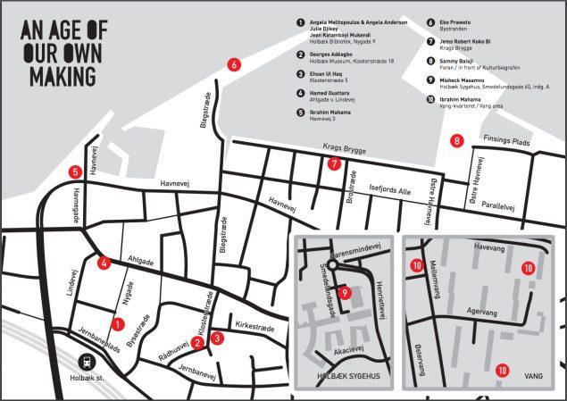 Kort over IMAGES 16 i Holbæk By
