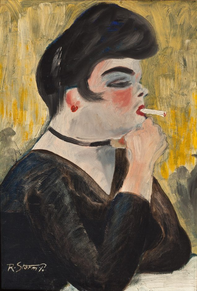 Storm P.: Pigen med cigaretten, 1909. © Storm P. Museet