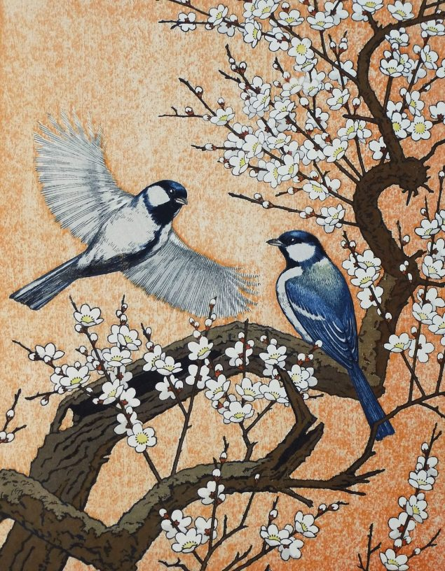 Yoshida Toshi: Spring - Flying Around the Plum Tree