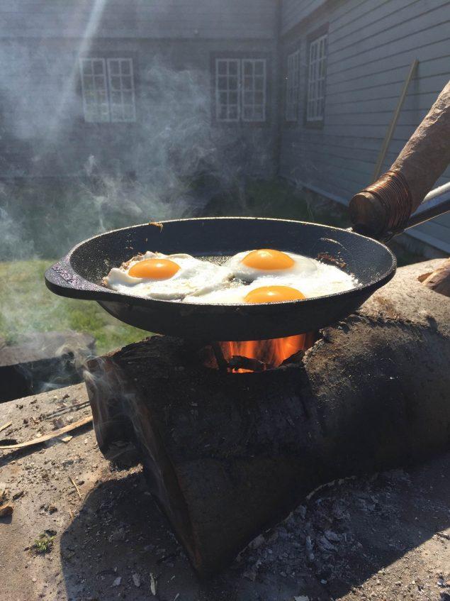Nærbillede af Brænde til Spejling af Æg. Foto: @ Jesper Aabille