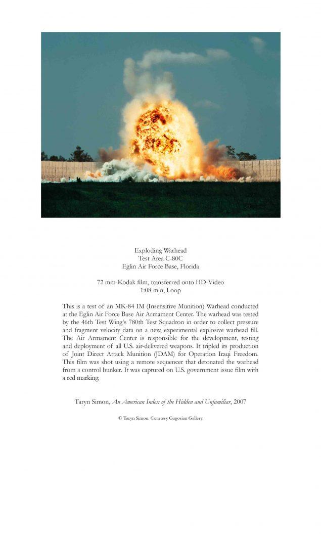 Taryn Simon: An American Index of the Hidden and Unfamiliar, 2007. © Taryn Simon. Courtesy Gagosian Gallery
