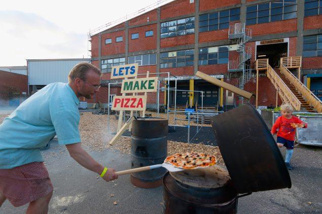 Lets Make Pizza på Kulturdivision Slagteriet i Holstebro. Foto: Poul Erik Fabricius