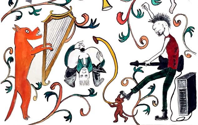 Andreas Schulenburg: Kalkmaleri, detalje