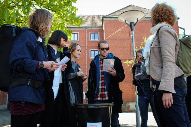 Under Cph Art Week 2016 kan du komme med på en af performancekollektivet HØRTs lydvandringer på Nørrebro. Foto: Niklas Buhl