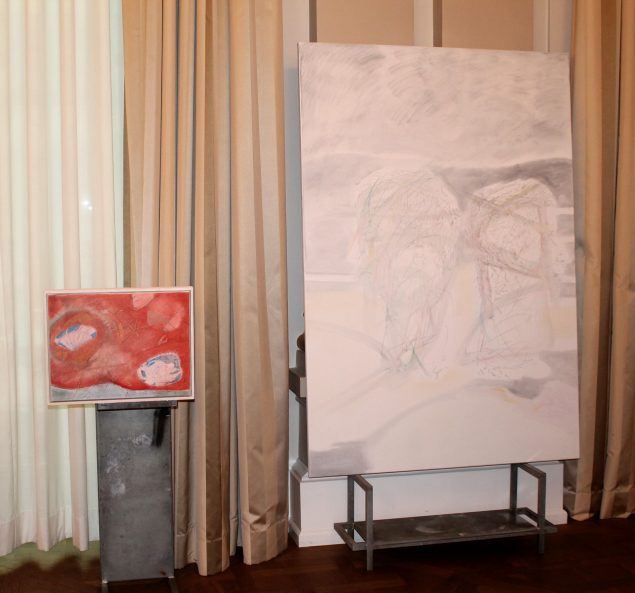 Et af Martin Aagaard Hansens nyere værker, installeret på Hotel d'Angleterre i forbindelse med prisoverrækkelsen. Foto: Stine Nørgaard Lykkebo